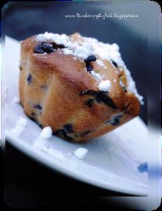 Muffiny z czekoladą i jagodami